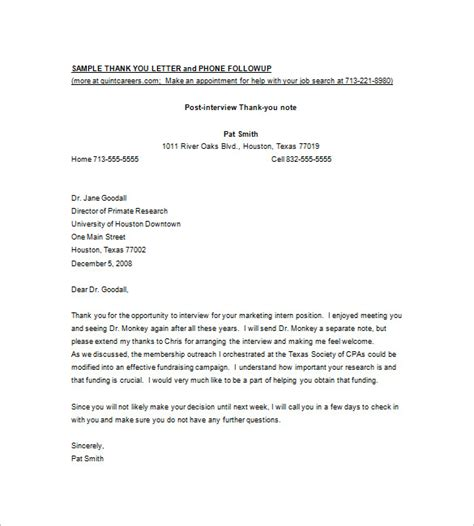 thanking letter for providing thank you letter for providing opportunity cover letter