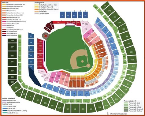 citi field map citi field 3d and detailed seating chart