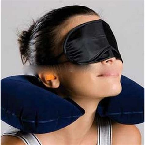 Masker Leher bantal leher dengan masker mata earplug