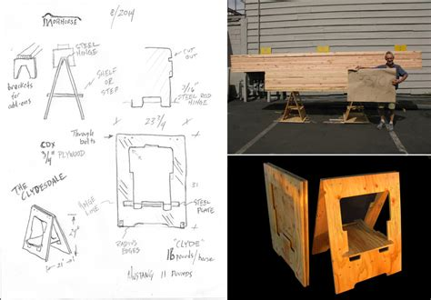 Garage Design Software in the details making a folding sawhorse on steroids