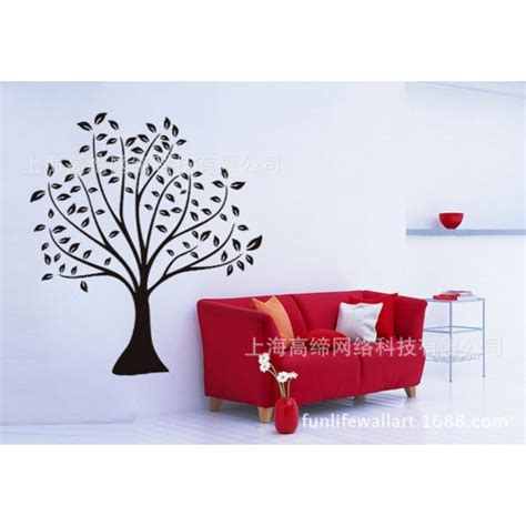 size wall stickers black tree with black leaves wall sticker