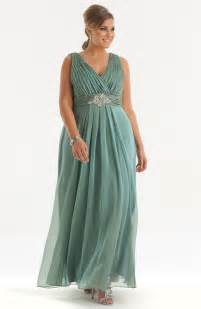 Four different styles of plus size evening dresses