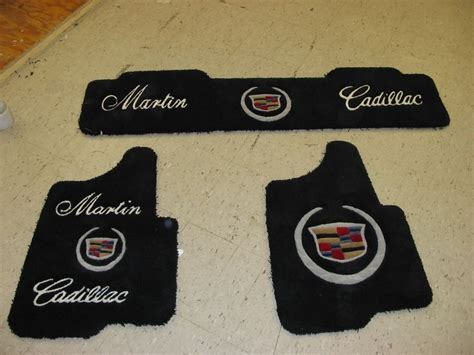 Custom Car Mat by Custom Made Car Mats With The Quot Cadillac Symbol Quot From G
