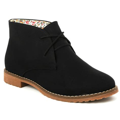 22g new womens faux suede desert lace up ankle boots