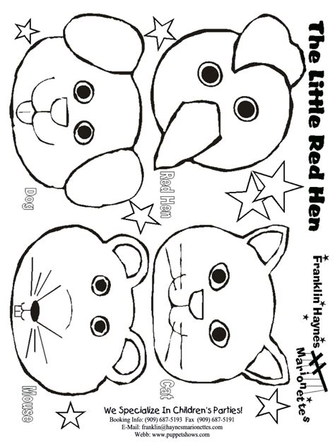animal puppet templates animal templates az coloring pages