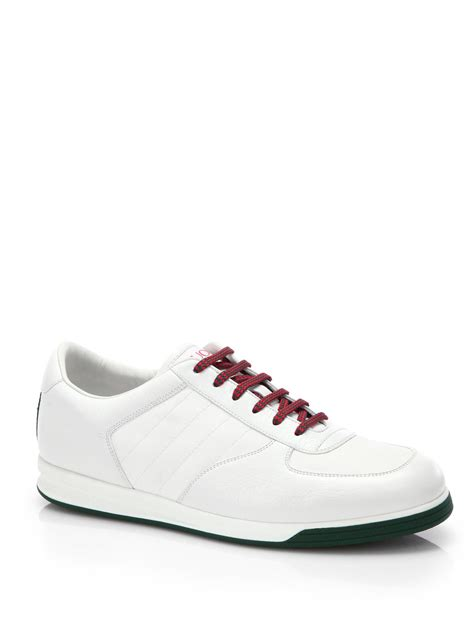 gucci sneakers lyst gucci 1984 leather anniversary sneakers in white