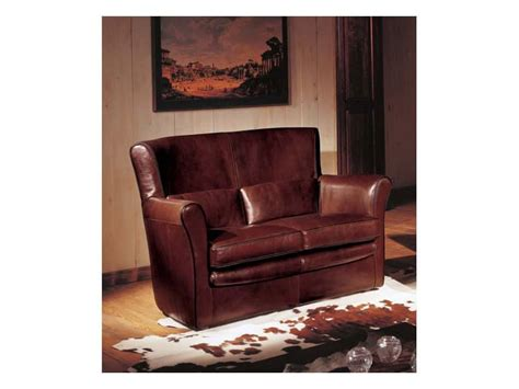 sofa dolly two seater sofa upholstered in leather classic style