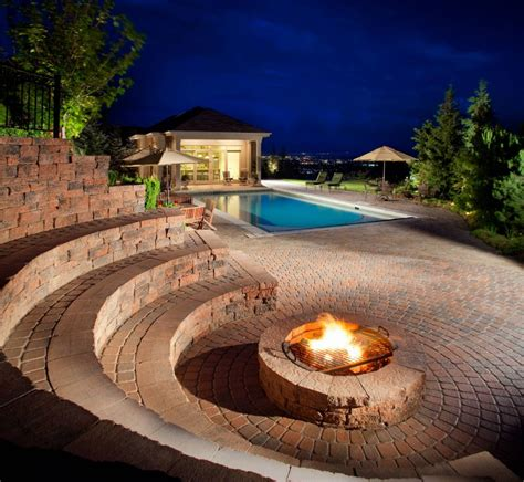brick fire pits   homes  gardens  surround