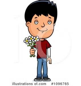 Adolescent boy cartoon