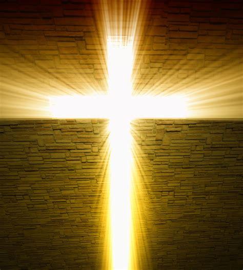light of the christian church image of christian cross of light background