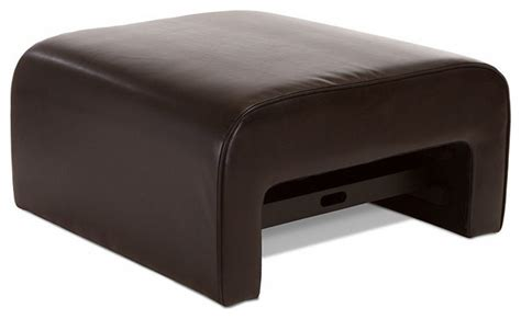 Duvall Leather Ottoman Coffee Table W Pull Out Tray Coffee Table With Pull Out Ottomans