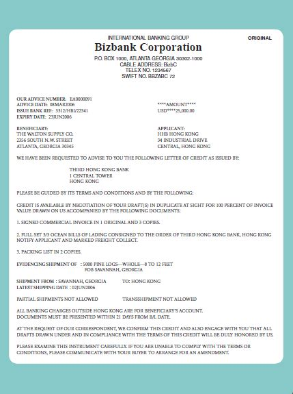Letter Of Credit Escrow Agreement Backed Letter Of Credit Docoments Ojazlink