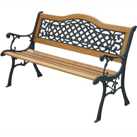 wood and metal garden bench mississippi s bend garden bench the garden factory