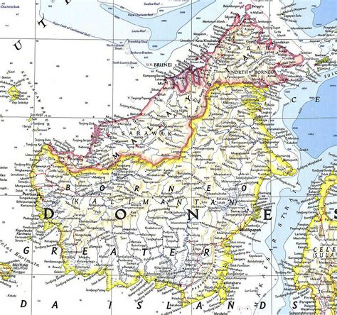 Borneo Indonesia map of borneo search borneo indonesia and