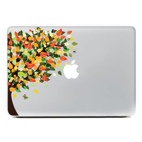 colorful mac computer colorful tree mac laptop sticker skin vinyl decal for