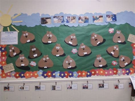 groundhog day decorations groundhog day bulletin board childtime groundhog