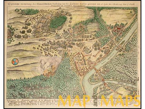 dessau map battle of dessau bridge germany merian 1654