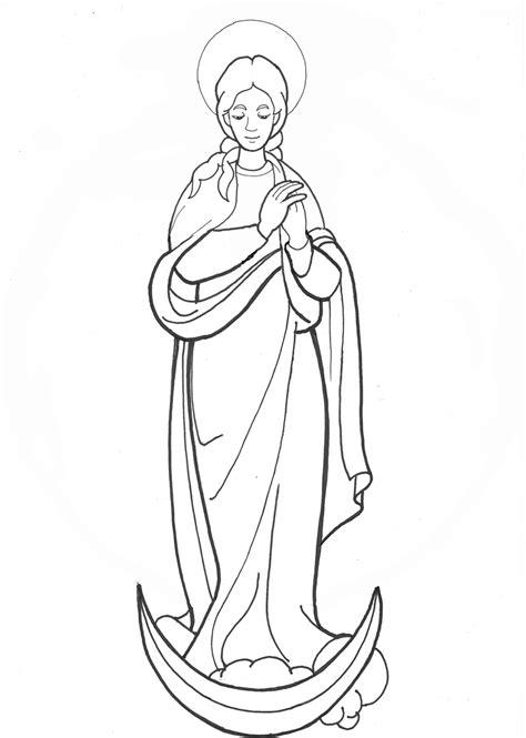 imagenes de la virgen maria para niños para colorear mar 237 a guapa bn dibujos y cosas para catequesis