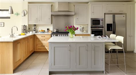 shaker kitchen ideas oak painted shaker kitchen from harvey jones