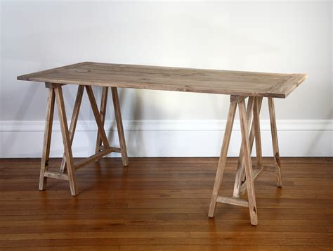 weathered wood writing desk desks weathered oak writing desk or reclaimed elm trestle
