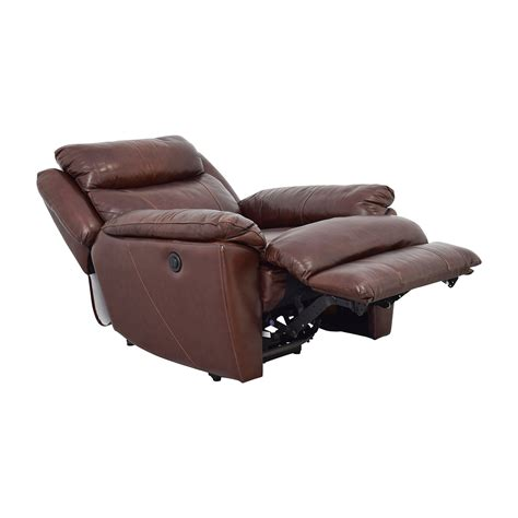 power reclining chairs leather 61 off macy s macy s brown leather power recliner chairs