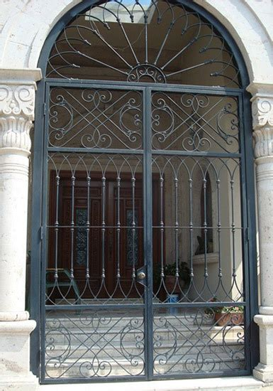 wrought iron entry front door custom metal door exterior