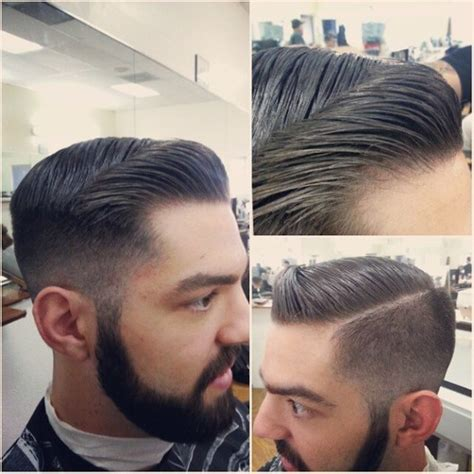 fade haircut razor lengths mens pompadour with razor part google search my style