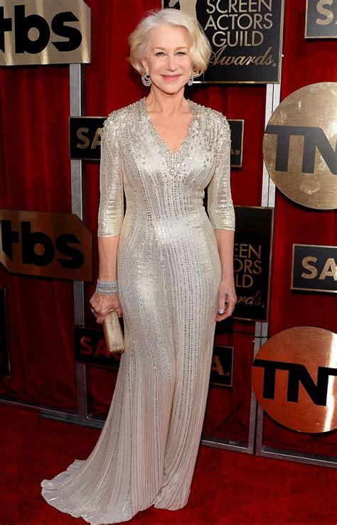 Helen Mirren Has At Sag Awards by 2016 Sag Awards Helen Mirren Wears A Beaded Packham