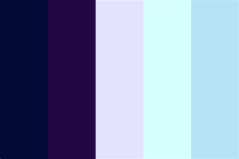 winter color palette midnight winter color palette