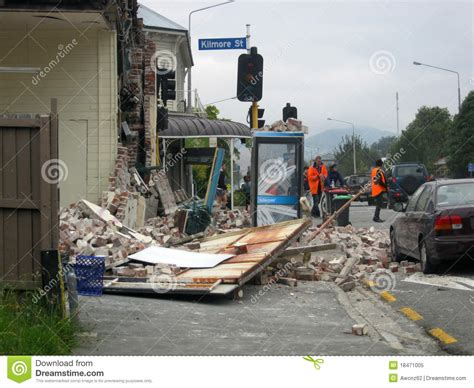 earthquake dream earthquake damage editorial image image of christchurch