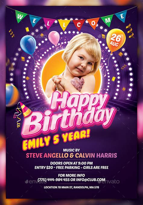 26 Birthday Flyer Templates Sle Exle Format Download Free Premium Templates Birthday Poster Template