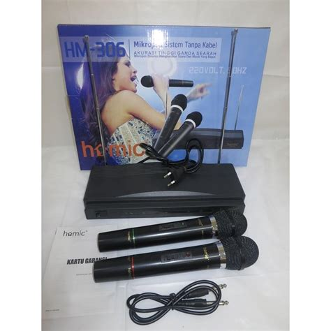 Vby Mic Wireless Homic 306 Mic Homic Microphone Mic Wireless Hm 306 Elevenia