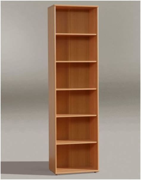 tempra narrow bookcase bookshelf furniture beech