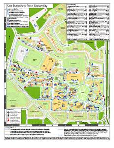 Sf State Map by San Francisco State University Map Mappery