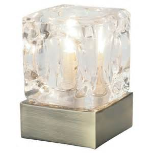 mini ice cube touch table lamp antique brass pagazzi