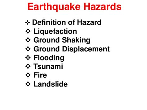 earthquake meaning study of earthquake hazards or disaster