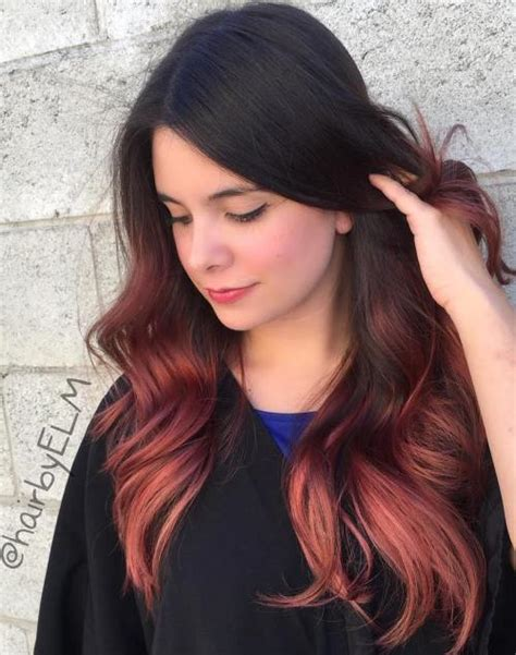 ombre hairstyles black hair 60 trendy ombre hairstyles 2018 brunette blue red