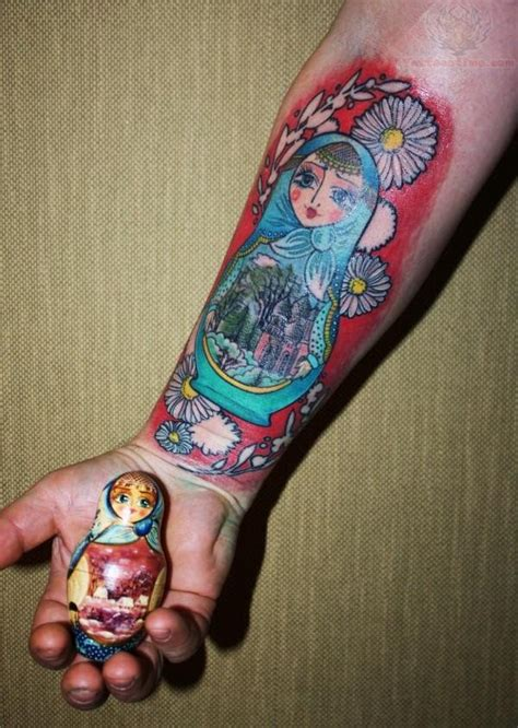 small russian doll tattoo matryoshka doll images 187 ideas