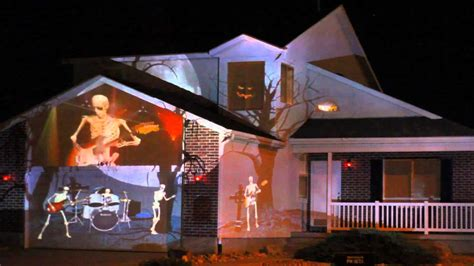 2014 Halloween House Projection Live Youtube Lights Projector On House