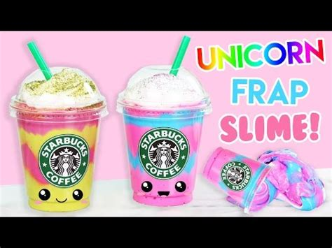 Home Decorating Channel How To Make Starbucks Unicorn Mermaid Frap Fluffy Slime
