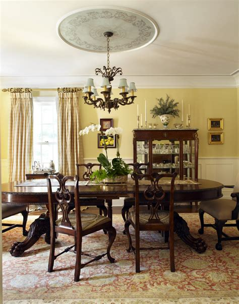 dining room chandeliers with l shades cool plaid curtains convention new york traditional dining