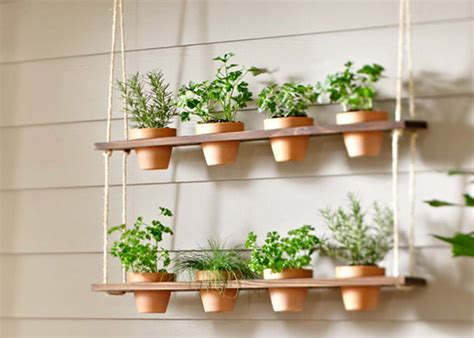 Hanging Herb Planter by How To Make A Hanging Herb Garden Garden Club