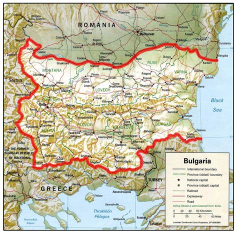 bulgaria map bulgaria mappery