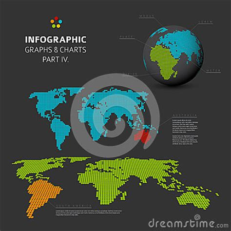 design visualization dreamzone set of flat design infographic charts and graphs 4 stock