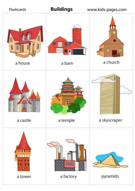 Barn Houses by Buildings Flashcard