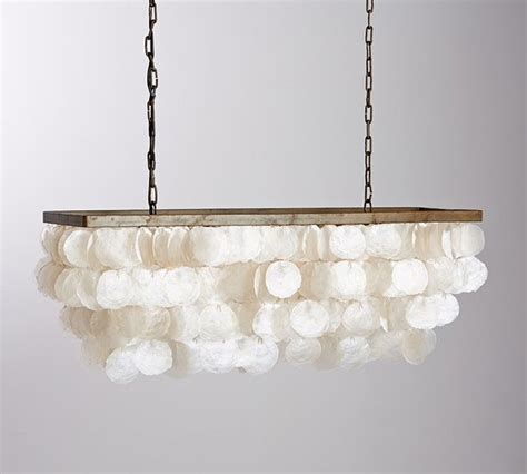 Capiz Chandelier Rectangular Capiz Rectangular Chandelier Style Chandeliers By Pottery Barn