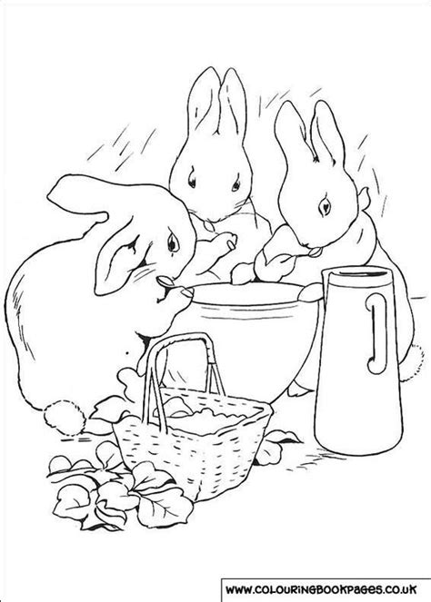 rabbit coloring pages pdf peter rabbit beatrix potter coloring pages coloring home