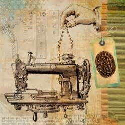 free illustration sewing vintage machine steunk