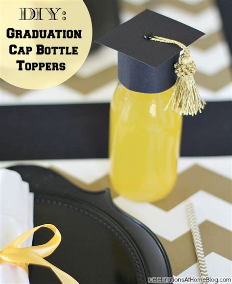 How To Make Paper Graduation Hats - diy graduation cap bottle toppers graduation
