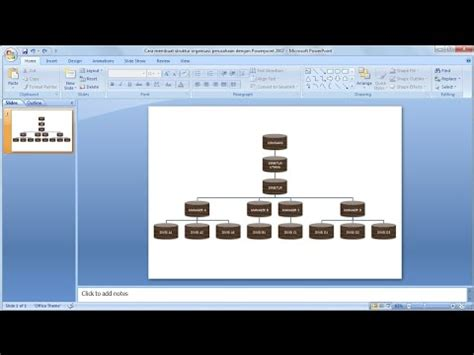 tutorial lengkap powerpoint 2007 tutorial powerpoint 2007 cara membuat struktur